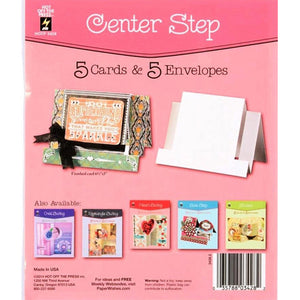 Hot Off The Press - Die Cut Card with Envelope - Centre Step (5/Pkg)
