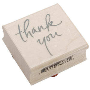 Inkadinkado Mounted Rubber Stamp - Thank you