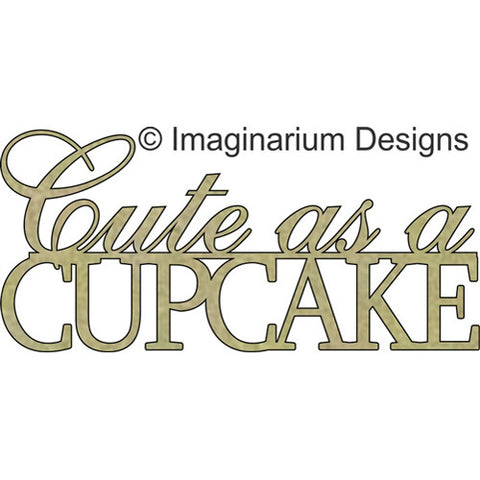 Cute as a cupcake (99mm x 46mm) - Imaginarium