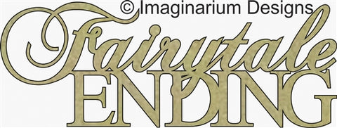 Imaginarium - Fairytale Ending (119mm x 44mm) - Chipboard Phrases