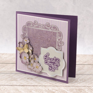 Esthetica Cut, Foil and Emboss Decorative Nesting Die - Just For You Frames