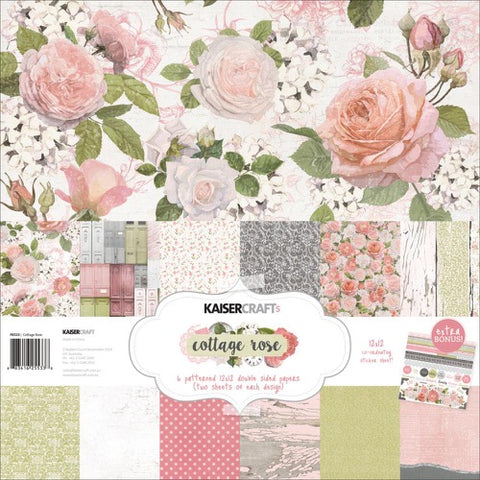 "Kaisercraft Paper pack 12x12"" - Cottage Rose"