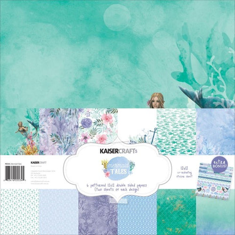 "Kaisercraft Paper pack 12x12"" with bonus Sticker sheet - Mermaid Tails"
