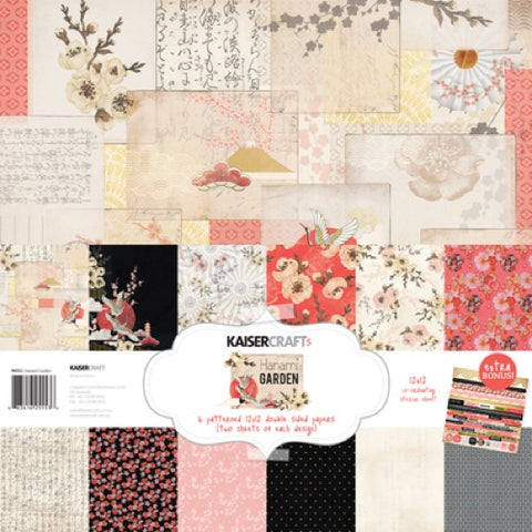 "Kaisercraft Paper pack 12x12"" with bonus Sticker sheet - Hanami Garden"