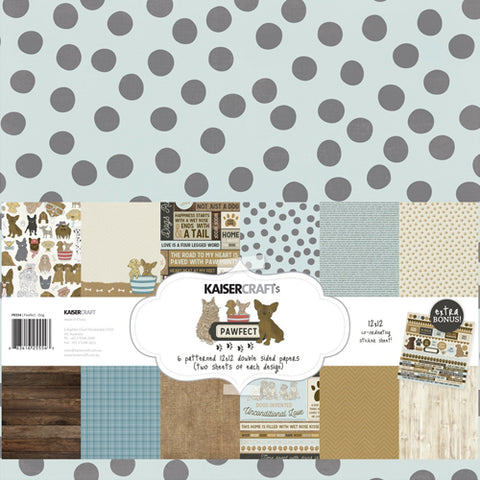 "Kaisercraft Paper pack 12x12"" with bonus Sticker sheet - Pawfect Dog"
