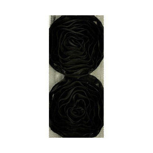 Kaisercraft - Ribbon Roses Large - Black (4 Flowers)