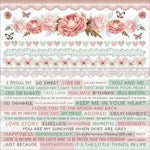 "Kaisercraft Cardstock stickers 12x12"" - Sage & Grace"