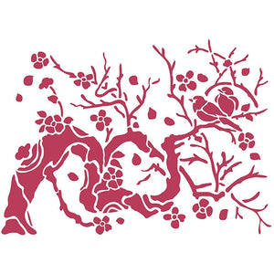 Stameria Stencil - Bird on Branch | STAMPERIA INTERNATIONAL, KFT