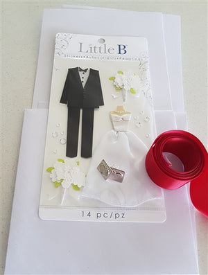 Little B Card pack - Bride & Groom