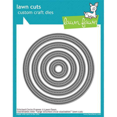 Lawn Fawn Die - Large Stitched Circle Stackables