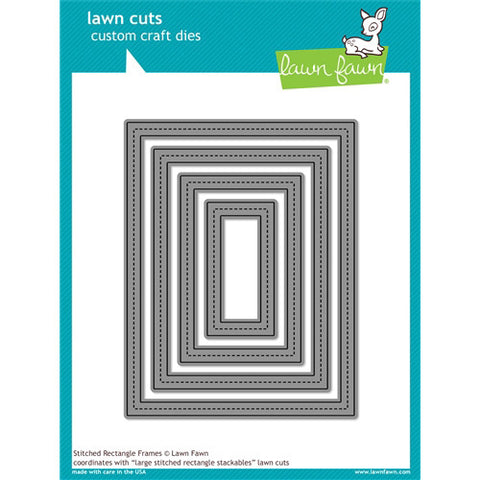 Lawn Fawn Die - Large Stitched Rectangle Stackables