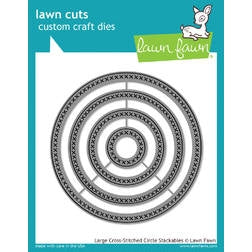 Lawn Fawn Die - Large Cross-Stitched Circle Stackables