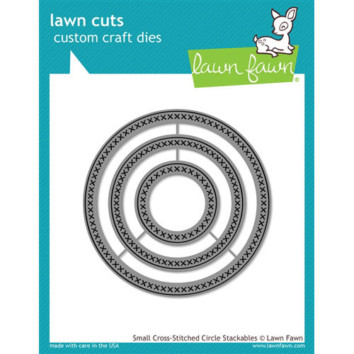 Lawn Fawn Die - Small Cross-Stitched Circle Stackables