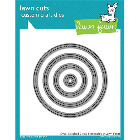 Lawn Fawn Die - Large Stitched Circles Stackables