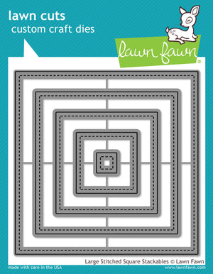 Lawn Fawn Die - Large Stitched Square Stackables
