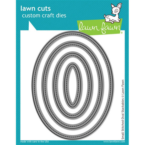 Lawn Fawn Die - Small Stitched Oval Stackables