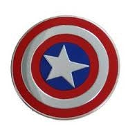 Marvel Licensed Heavy Duty Embossed Metal Sticker - Captain America Shield (2x2)
