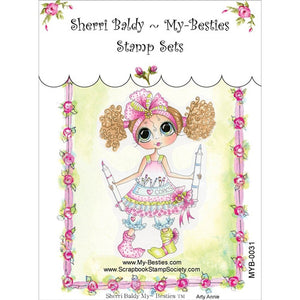 My Besties / Sherri Baldy - Clear Stamp - Arty Annie (4 X 6 Inches)