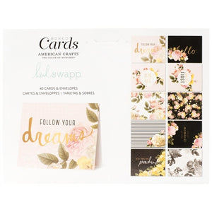 American Crafts A2 Cards W/Envelopes (4.375X5.75) 40/Box - Heidi Swapp Floral