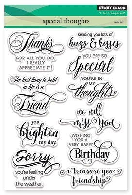 Penny Black - Clear Stamps - Special Thoughts (5x7)