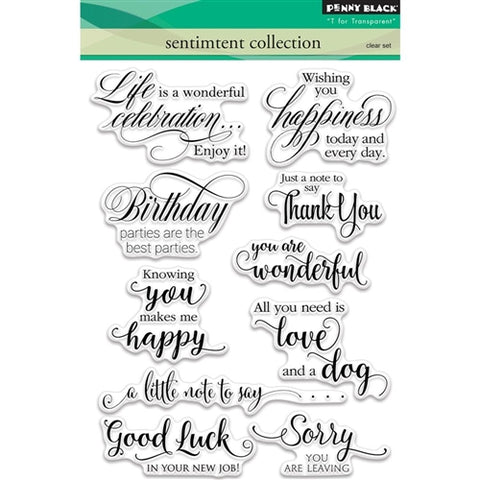 Penny Black - Clear Stamps - Sentiment Collection (5x7)