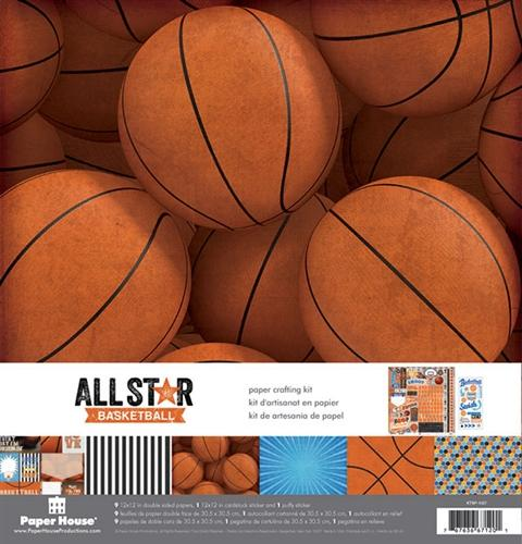 Paper House - Paper Crafting - Scrapbooking Kit - Basketball (12x12)
