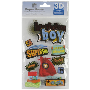 Paper House - 3D Stickers - Birthday Boy