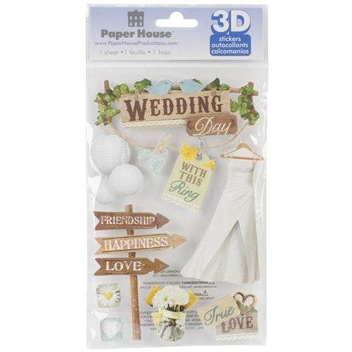 Paper House - 3D Stickers - Wedding
