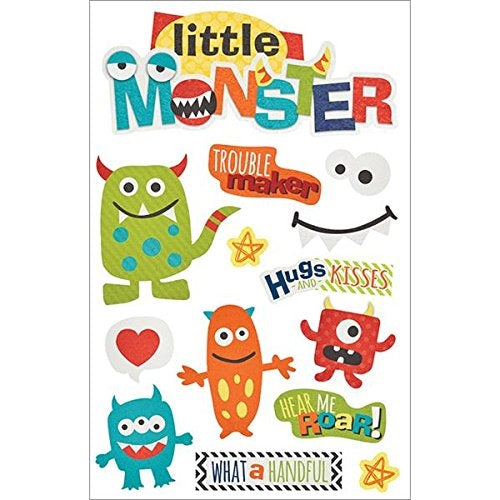 Paper House - 3D Stickers - Little Monster