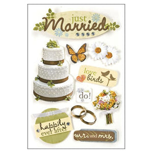 Paper House - 3D Stickers - Just Married