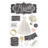 Paper House - 3D Stickers - The Bride