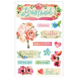 Paper House - 3D Stickers - Bridesmaid