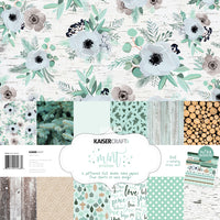 Kaisercraft Mint Wishes Paper Pack with Bonus Sticker Sheet