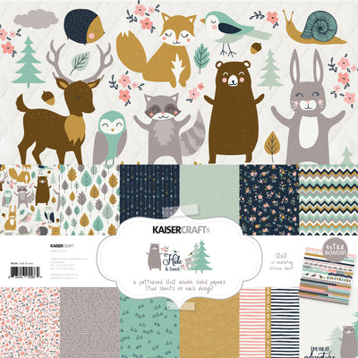 Kaisercraft Hide and Seek Collection - Paper pack with Bonus Sticker Sheet