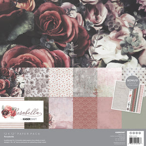 Kaisercraft Rosabella Collection - 12 x 12 Paper pack w/ Bonus sticker sheet | Kaisercraft