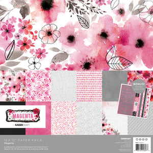 "Kaisercraft Magenta Collection  - 12x12"" Collection Pack 