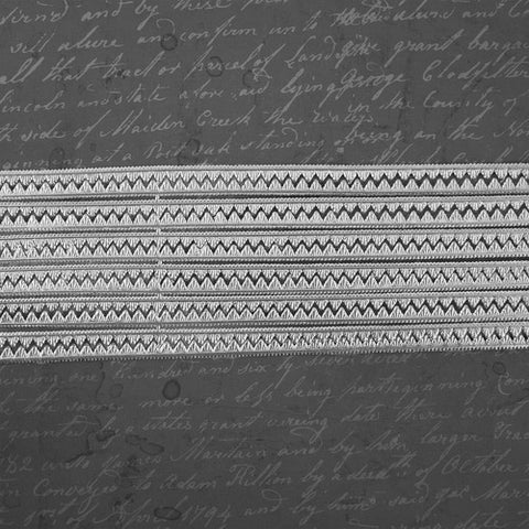 "Prima Marketing - 21"" Dresden Trims - Tiny Triangles Silver"
