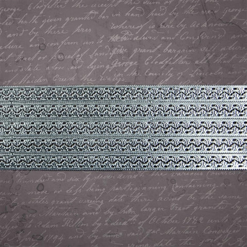 "Prima Marketing - 21"" Dresden Trims - Connected Fleur Silver"