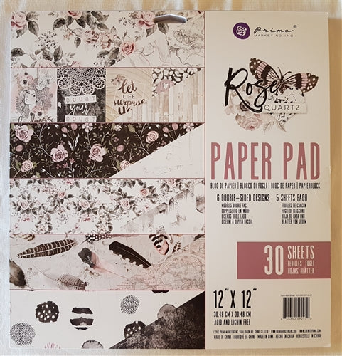 Rose Quartz Paper Pad 12x12 Double Sided (30 sheets)