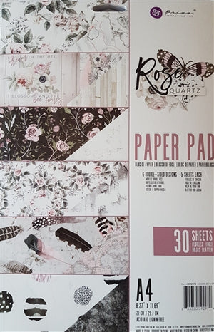 Rose Quartz Paper Pad A4 Double Sided (30 pages)