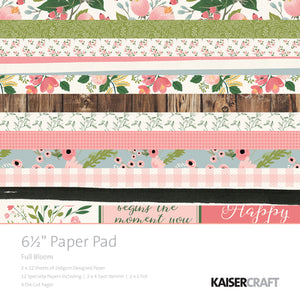 "Kaisercraft Full Bloom Collection - 6.5"" Paper Pad"