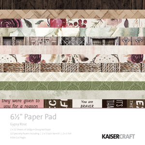 "Kaisercraft Gypsy Rose Collection - 6.5"" Paper Pad"