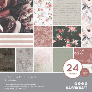 "Kaisercraft Rosabella Collection - 6.5"" Paper Pad 