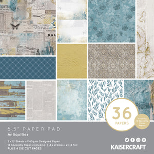 "Kaisercraft Antiquities Collection  - 6.5"" Paper Pad 