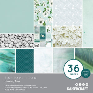 "Kaisercraft Morning Dew Collection  - 6.5"" Paper Pad 