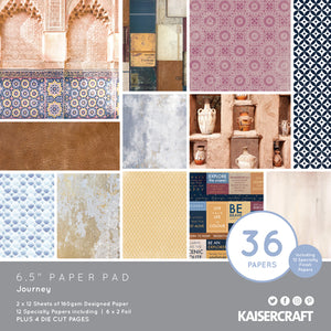 "Kaisercraft Journey Collection  - 6.5"" Paper Pad 