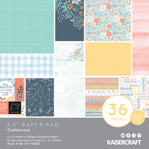 Crafternoon 6.5 Paper Pad | Kaisercraft