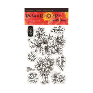 Power Poppy by Marcella - Clear Stamps - Azalea (4 x 6 Inches)