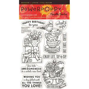 Power Poppy by Marcella - Clear Stamps - Short Stacks (4 x 6 Inches)