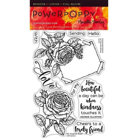 Power Poppy by Marcella - Clear Stamps - My English Rose (4 x 6 Inches)
